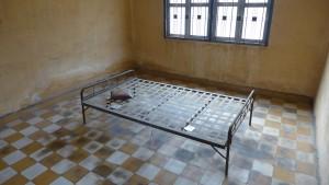 Das Bett eines Gefangenen.